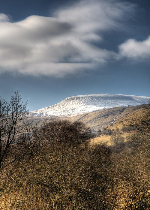 Fan Fawr Mountain Greeting Card featuring the photograph Fan Fawr Brecon Beacons 1 by Steve Purnell