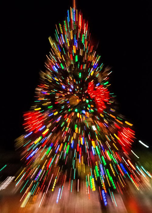 Zoom Out Art Greeting Card featuring the photograph Fantasy Christmas Tree by Ronald Hunt