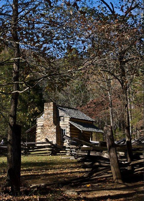 Farm Greeting Card featuring the photograph Farm Cabin Cades Cove Tennessee by Douglas Barnett