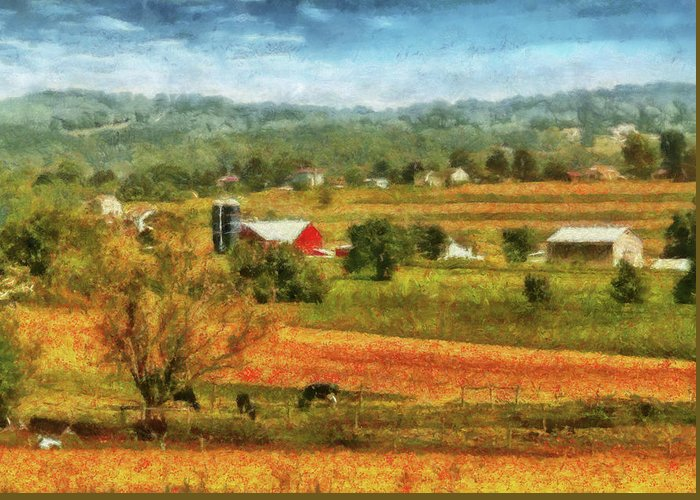Farmers Field Photographs Greeting Cards