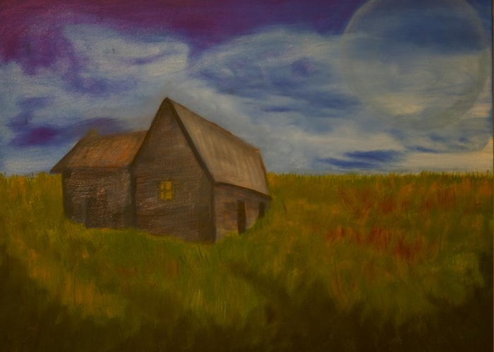 Farm Greeting Card featuring the painting Farm Freedom by Angelia Young