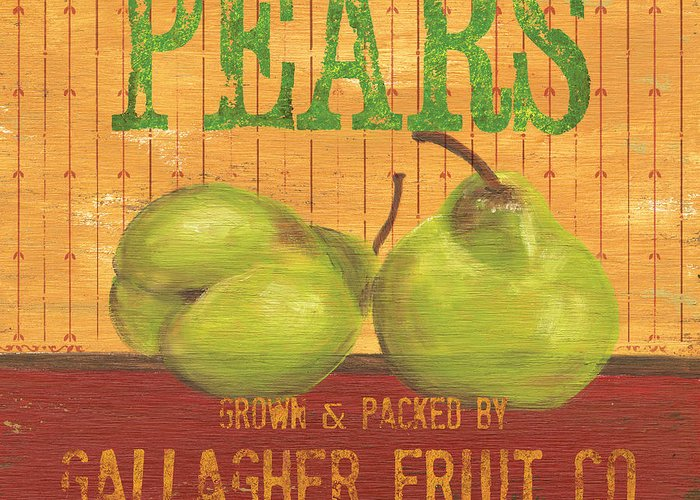 Food Greeting Card featuring the painting Farm Fresh Fruit 1 by Debbie DeWitt