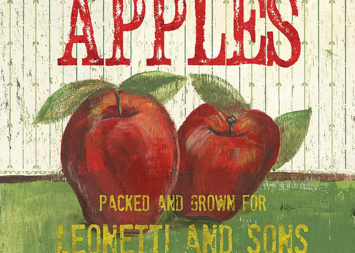 Apples Paintings Greeting Cards