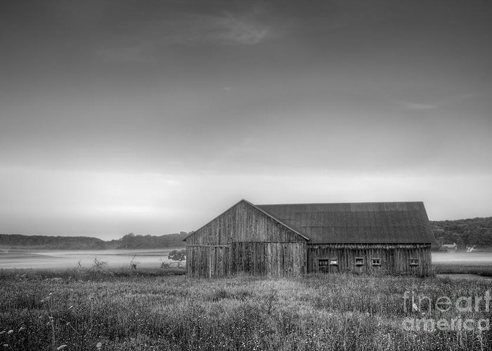 Sleeping Greeting Card featuring the photograph Farm In Black And White by Twenty Two North Photography