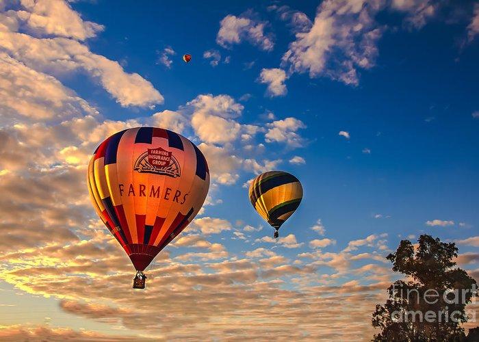 Arizonia Greeting Card featuring the photograph Farmer's Insurance Hot Air Ballon by Robert Bales