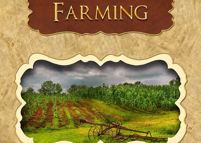 Farmer Greeting Card featuring the photograph Farming And Country Life Button by Mike Savad