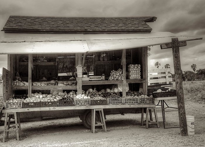 Farm Greeting Card featuring the photograph Farmstand by William Wetmore