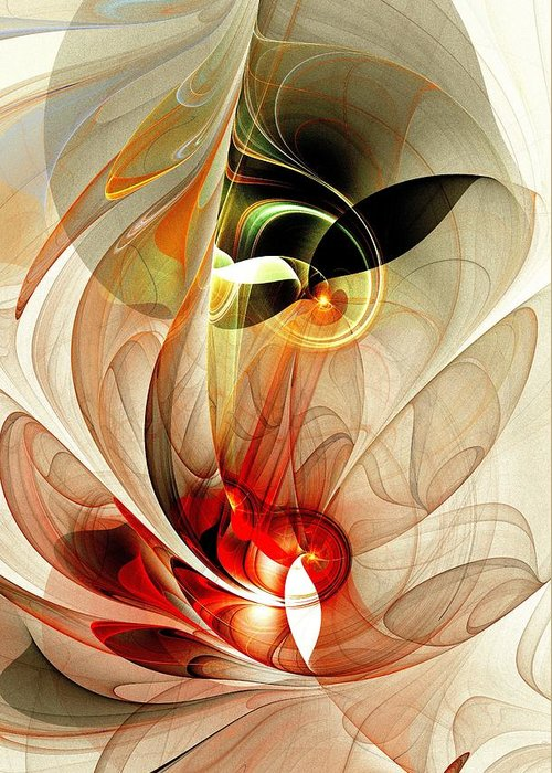 Fascinated Greeting Card featuring the digital art Fascinated by Anastasiya Malakhova