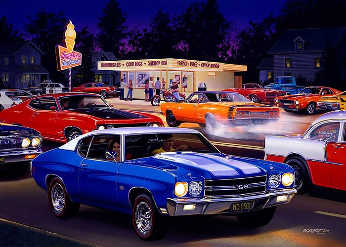 Chevy Chevelle Greeting Cards
