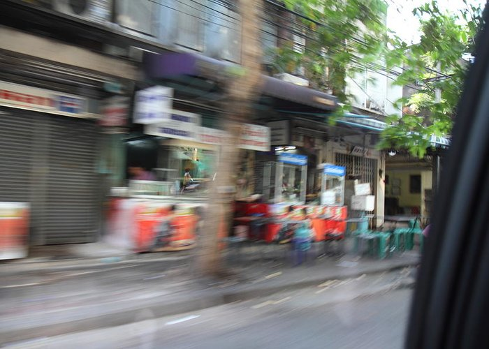 Bangkok Greeting Card featuring the photograph Fast Paced City Life - Bangkok Thailand - 01132 by DC Photographer