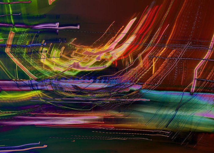 Lights Greeting Card featuring the photograph Faster Than The Speed Of Light by David Pantuso