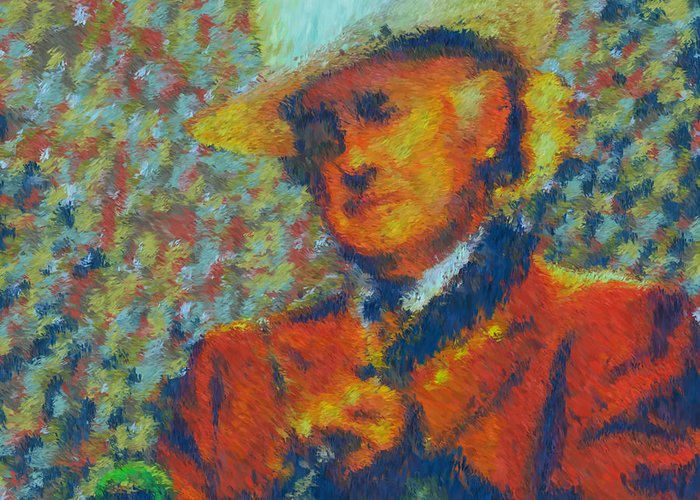 Painting Greeting Card featuring the painting Father Of Blue Grass by Kevin Rogerson