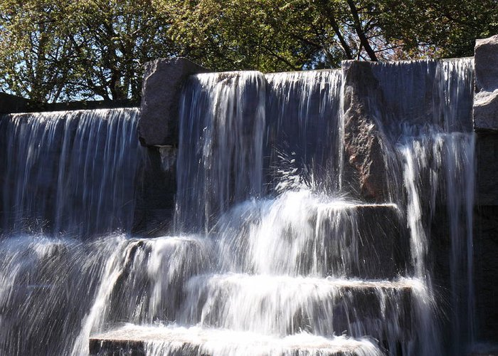 America Greeting Card featuring the photograph Fdr Memorial - Washington Dc - 01131 by DC Photographer