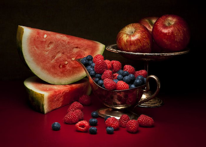 Abundance Greeting Card featuring the photograph Feast Of Red Still Life by Tom Mc Nemar