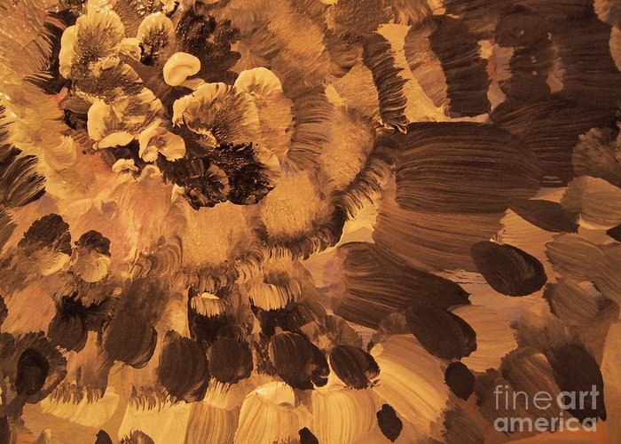 Abstract Flower Painting Greeting Card featuring the painting Feather Flower 2 by Nancy Kane Chapman