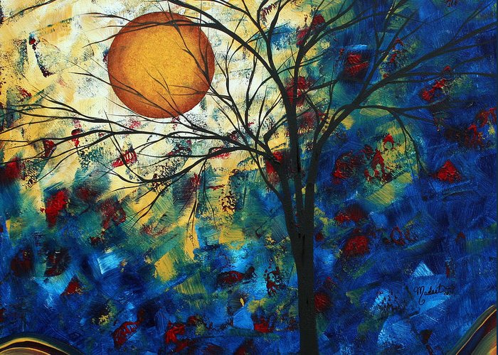 Decorative Greeting Card featuring the painting Feel The Sensation By Madart by Megan Duncanson
