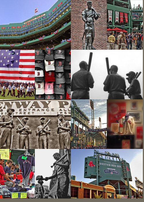 Boston Red Sox Greeting Card featuring the photograph Fenway Memories by Joann Vitali