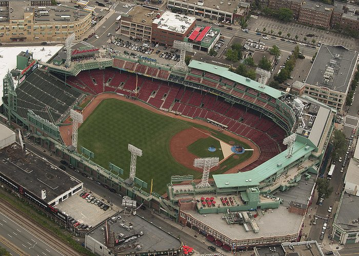 Fenway Park Greeting Card featuring the photograph Fenway Park by Joshua House