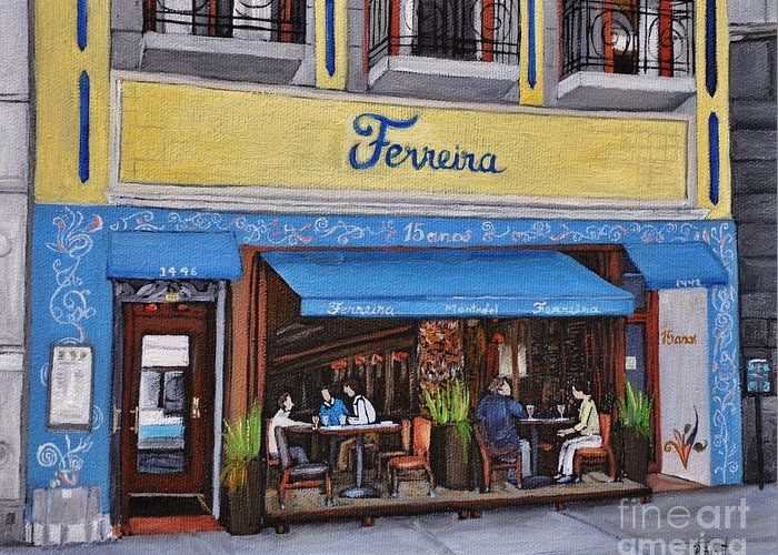 Montreal Cafes Greeting Cards