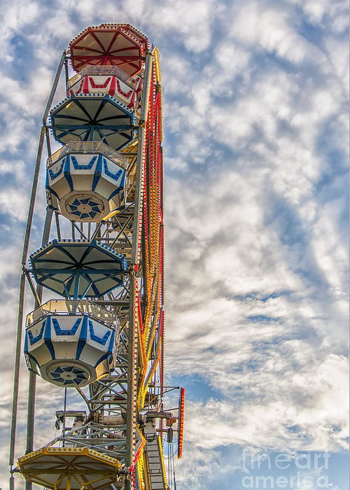 Sky Greeting Card featuring the photograph Ferris Wheel by Antony McAulay