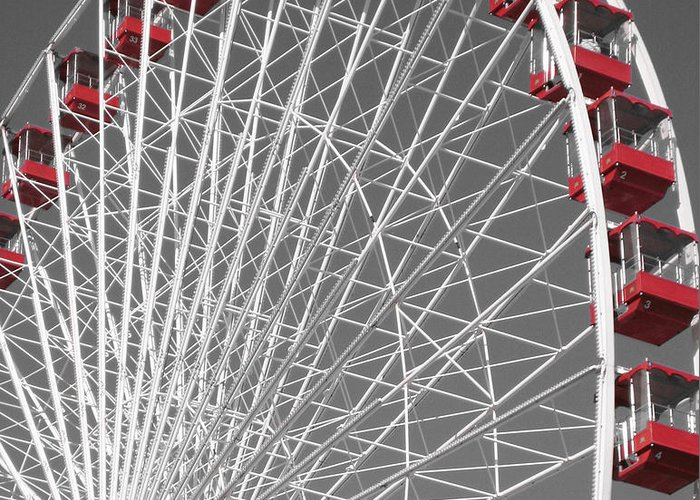 Ferris Wheel Greeting Card featuring the photograph Ferris Wheel by Mary Cloninger