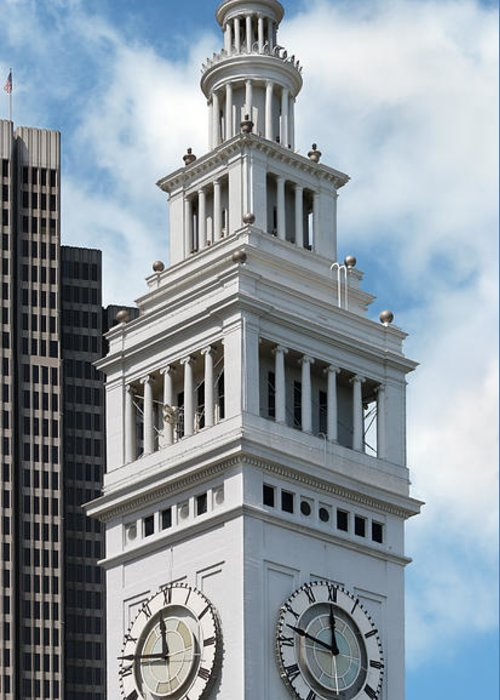 Clock Tower Greeting Card featuring the photograph Ferry Building Clock Tower by Jo Ann Snover