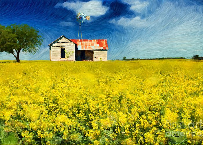 Farmhouse Greeting Card featuring the photograph Field Of Dreams by Betty LaRue