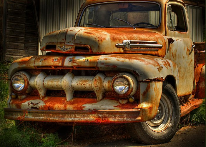 Fifty Two Ford Truck Greeting Card featuring the photograph Fifty Two Ford by Thomas Young
