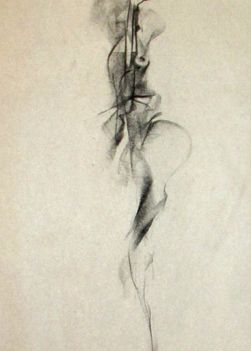 Sensuality Greeting Card featuring the drawing Figurative Gesture Drawing by John Arthur Ligda