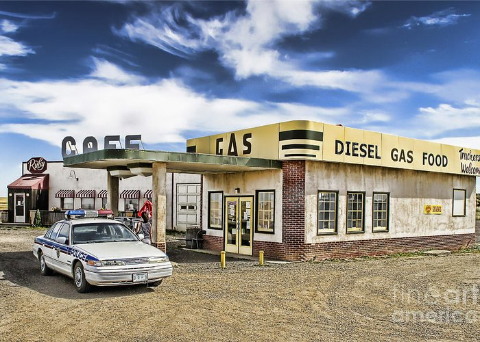 Corner Gas Greeting Card featuring the photograph Fill It Up by Nicholas Kokil