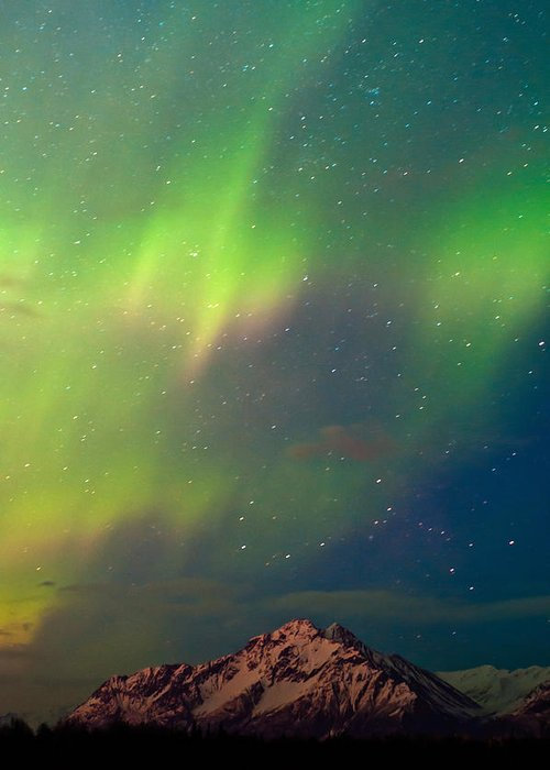 Aurora Greeting Card featuring the photograph Filled With Aurora by Ron Day
