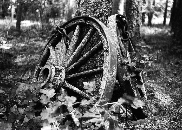 B&w Greeting Card featuring the photograph Final Rest by Aaron Aldrich