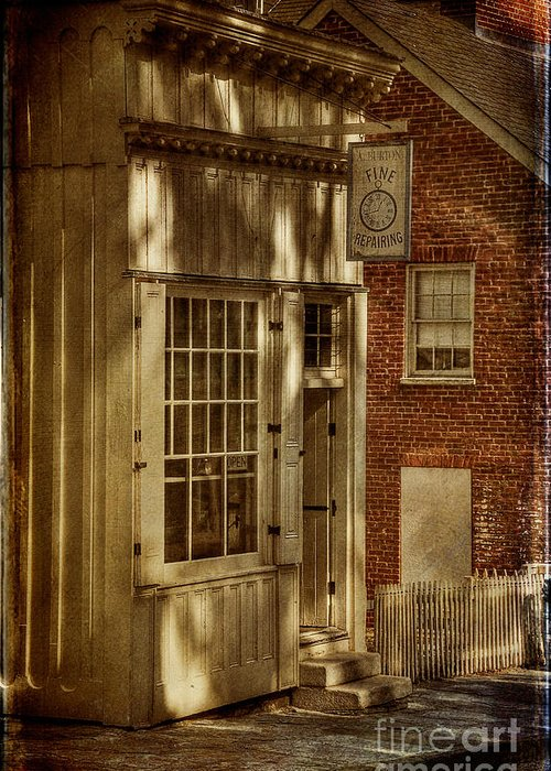 Store Greeting Card featuring the photograph Fine Repairs by Lois Bryan