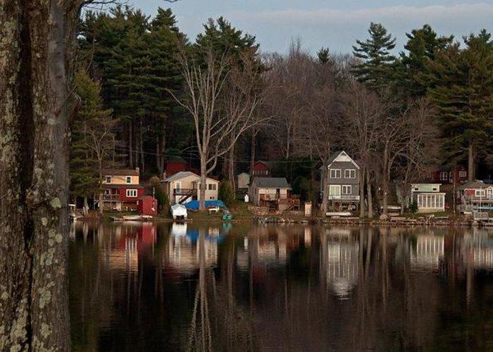 Finn Park Greeting Card featuring the photograph Finn Village On Demond Pond - Rutland Massachusetts by John Black