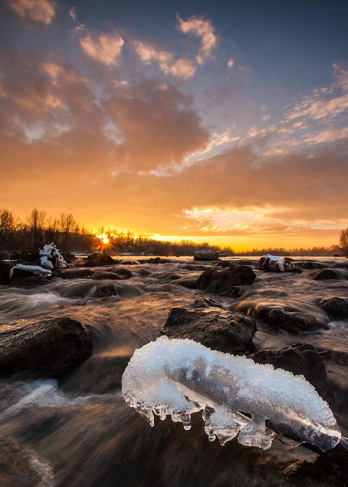 Landscapes Greeting Card featuring the photograph Fire And Ice by Davorin Mance