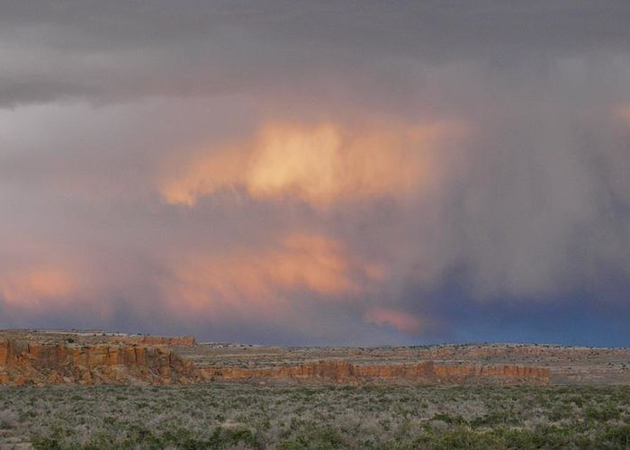 Chaco Greeting Card featuring the photograph Fire In The Sky by Feva Fotos