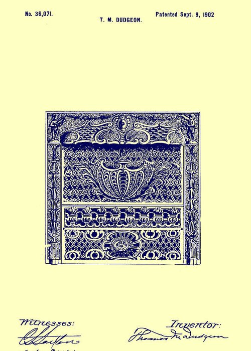 Antique Ironwork Drawings Greeting Cards