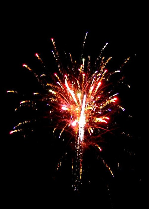 Fireworks Greeting Card featuring the photograph Fireworks 10 by Mark Malitz
