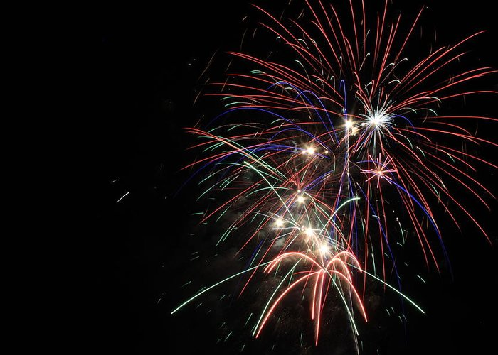 Fireworks Greeting Card featuring the photograph Fireworks 10 by Penny Rogers