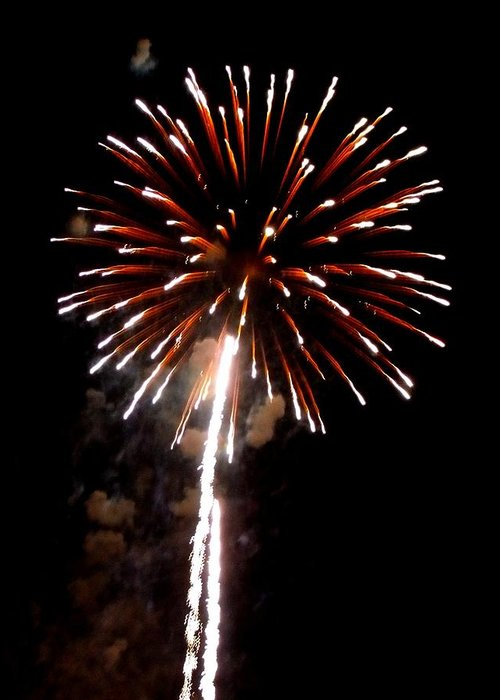 Fireworks Greeting Card featuring the photograph Fireworks 14 by Mark Malitz