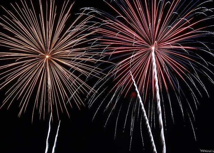 Fireworks Greeting Card featuring the photograph Fireworks by Andrew Nourse