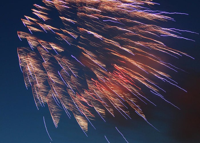 July Greeting Card featuring the photograph Fireworks Series I by Suzanne Gaff
