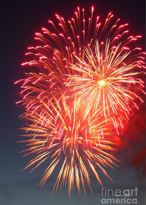 Fireworks Greeting Card featuring the photograph Fireworks Series II by Suzanne Gaff