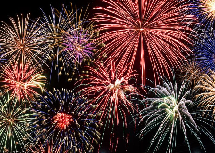 4th Greeting Card featuring the photograph Fireworks Spectacular IIi by Ricky Barnard
