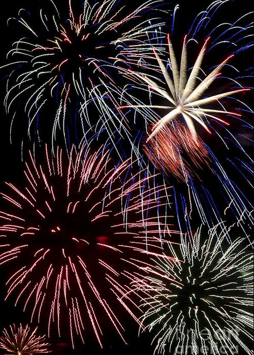 Fireworks Greeting Card featuring the photograph Fireworks Spectacular by Jim And Emily Bush