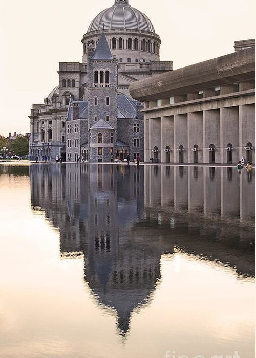 Christian Science Centre Greeting Card featuring the photograph First Church Of Christ Scientist Boston by Liz Leyden