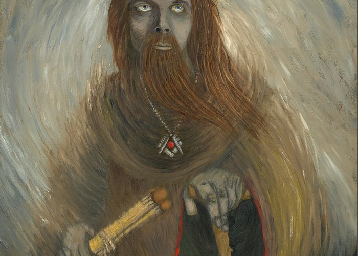 Freemason Greeting Card featuring the painting First Freemason by Sherryl Lapping
