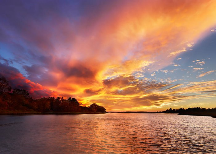 Sunset Greeting Card featuring the photograph First Of November by Jonathan Steele