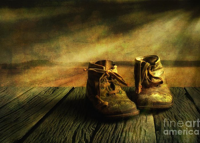 Art Greeting Card featuring the photograph First Shoes by Veikko Suikkanen