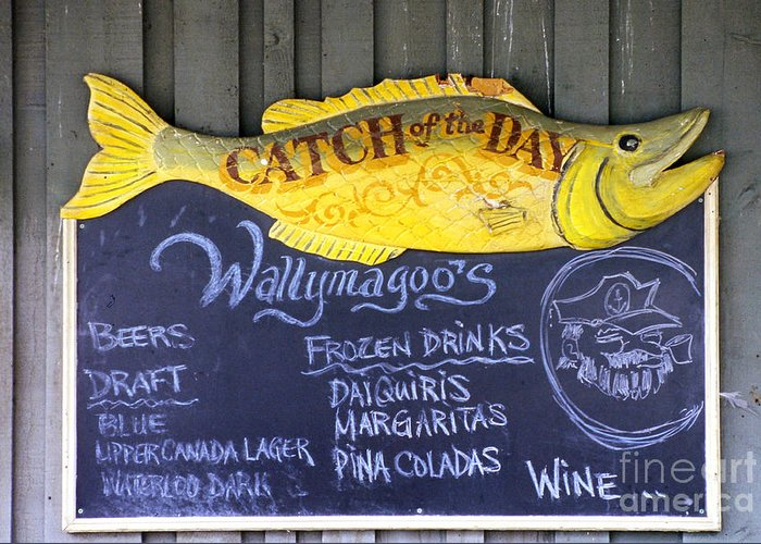 Wallymagoos Greeting Card featuring the photograph Fish Friday by Anne Gordon